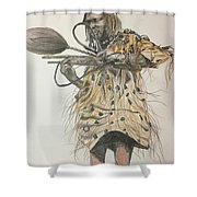 Dozo Warrior Shower Curtain
