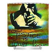 Dr. Cornel West Justice Shower Curtain