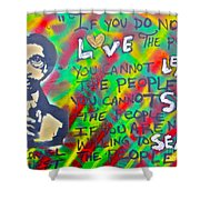 Dr. Cornel West  Love The People Shower Curtain