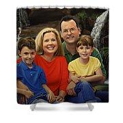 Dr. Devon Ballard And Family Shower Curtain