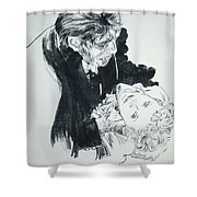 Dr. Jekyll As Mr. Hyde Shower Curtain