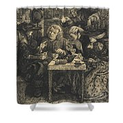 Dr Johnson At The Mitre Shower Curtain