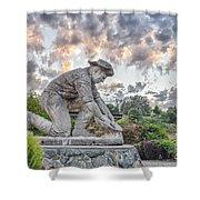 Dr. Kenneth Fox Sculpture Oldtown Auburn Shower Curtain