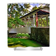 Dr. Knisley Covered Bridge Shower Curtain