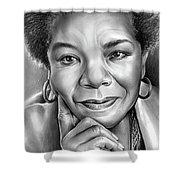 Dr Maya Angelou Shower Curtain