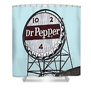 Dr Pepper Landmark Sign Roanoke Virginia Shower Curtain