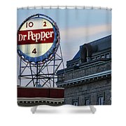Dr Pepper Sign Shower Curtain