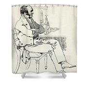 Dr. William Dunlop, 1792 Shower Curtain