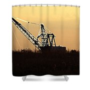 Drag Line  Shower Curtain
