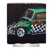Drag Racing Vw Shower Curtain