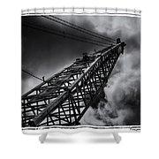 Dragline 553bw Shower Curtain