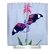 Dragon And Cactus Shower Curtain