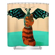 Dragon And Cat Shower Curtain