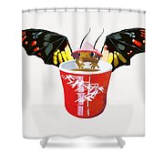 Dragon And Chinese Cup Shower Curtain