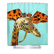 Dragon And Giraffe Shower Curtain