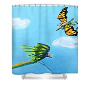 Dragon And Kite Shower Curtain
