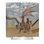 Dragon And Master Shower Curtain