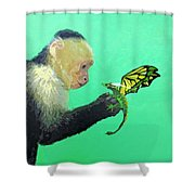 Dragon And Monkey Shower Curtain