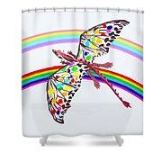 Dragon And Rainbow Shower Curtain