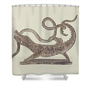 Dragon And Serpent Weather Vane Shower Curtain