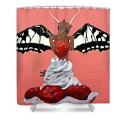 Dragon And Strawberry Shower Curtain