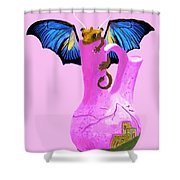Dragon And Vase Shower Curtain