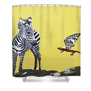 Dragon And Zebra Shower Curtain