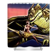 Dragon Chase Shower Curtain