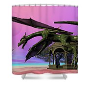 Dragon Shower Curtain by Corey Ford