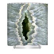 Dragon Eye Agate Druzy Shower Curtain