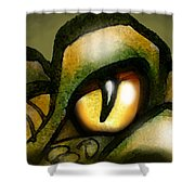 Dragon Eye Shower Curtain