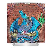 Dragon Family Shower Curtain