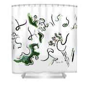 Dragon Fire Shower Curtain