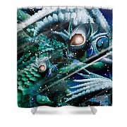 Dragon Home... Snow Day Shower Curtain