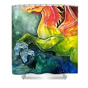 Dragon Horse Shower Curtain