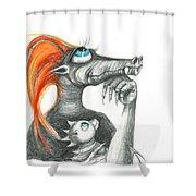 Dragon Mom Shower Curtain