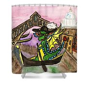 Dragon New Year Comes To Venice Shower Curtain