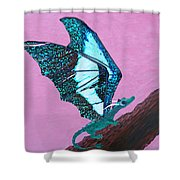 Dragon On Branch Shower Curtain