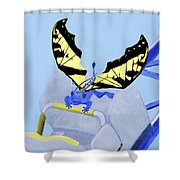 Dragon On Roller Coaster Shower Curtain