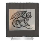 Dragon On The Move Shower Curtain