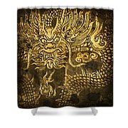 Dragon Pattern Shower Curtain by Setsiri Silapasuwanchai