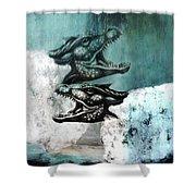 Dragon Sheep Shower Curtain