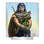 Dragon Tracker Shower Curtain