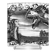 Dragon Whisperer  Shower Curtain