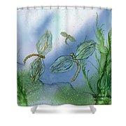 Dragonflies At Dusk Shower Curtain