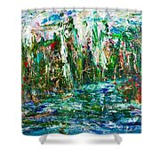 Dragonflies Palace  Shower Curtain