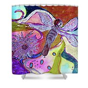Dragonfly And Mum Shower Curtain