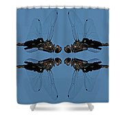 Dragonfly Composite Color Shower Curtain