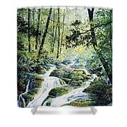 Dragonfly Creek Shower Curtain