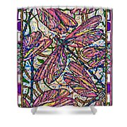 Dragonfly Deco Shower Curtain